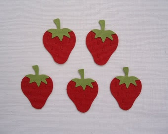 6 Strawberry Die Cuts for Cards Scrapbooking and Paper Crafts