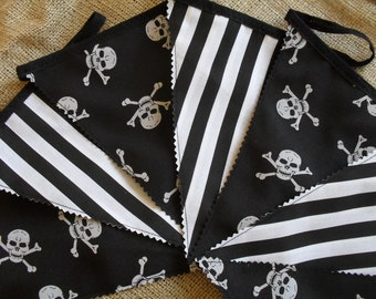 Black & White Pirate Party/Bedroom Bunting