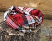 Traditional Plaid Flannel Infinity Scarf