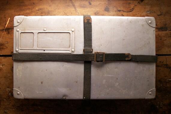 Vintage Metal Laundry Mailing Suitcase