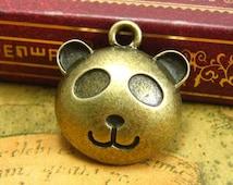 10 pcs Antique Bronze Panda Charms 20x17mm CH1385