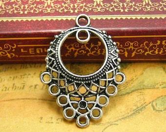 20 pcs Silver Chandelier Earring Findings CH1373