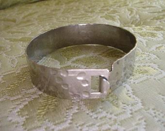 Vintage Wide Hammered Cuff Bracelet