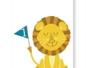 Lion Circus Birthday Card