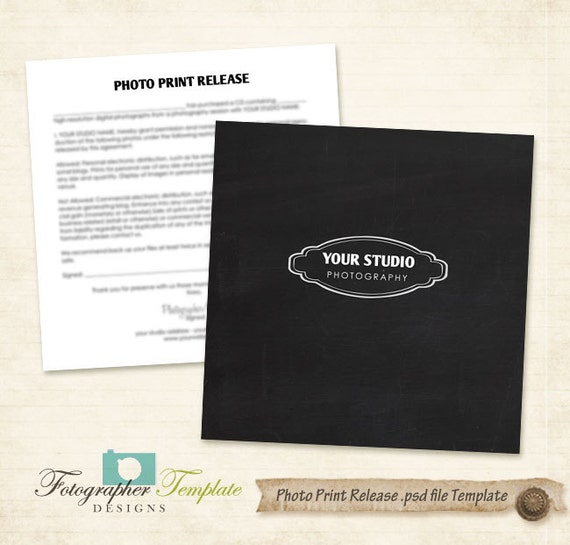 etsy shop policies template - photo print release form template chalkboard photography forms