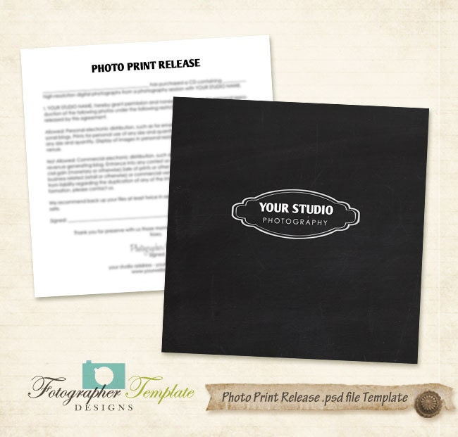 photo print release form template chalkboard photography forms. Black Bedroom Furniture Sets. Home Design Ideas