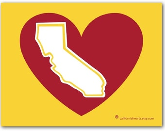 U.S.C. Trojans California Heart Decal