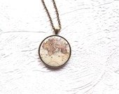 World Necklace- World map necklace- Map necklace- Travel the World Necklace- Map of the World- Europe map jewelry- gift for her