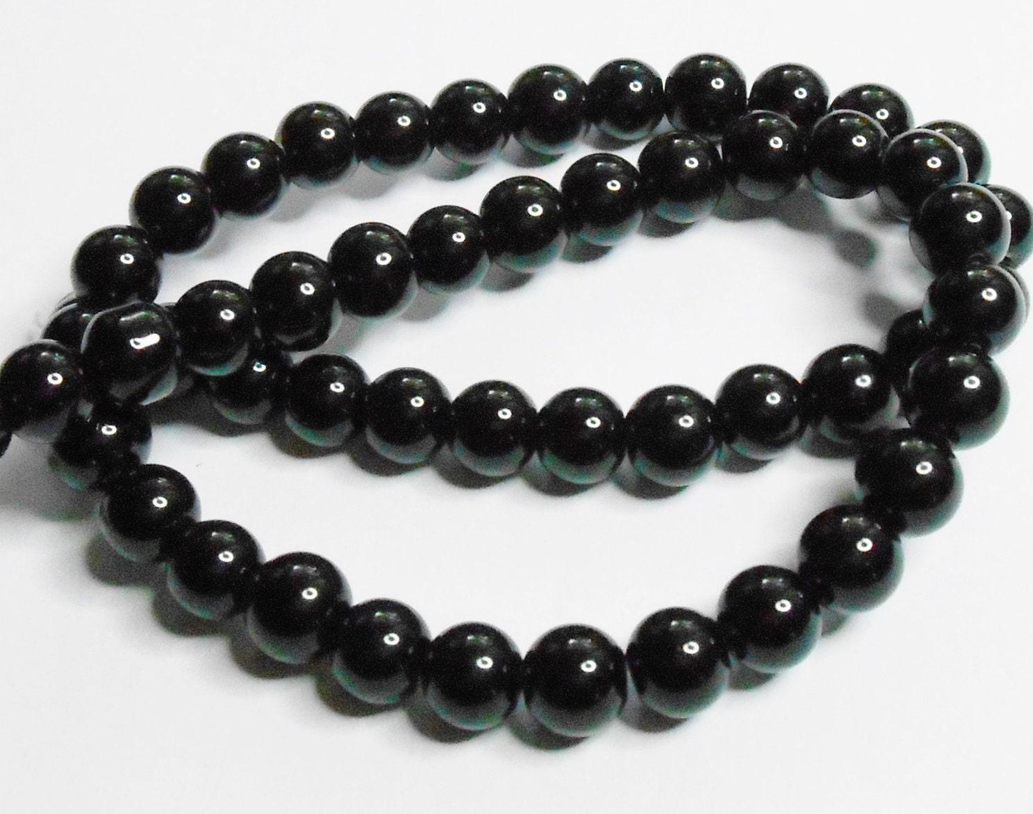 8mm round black onyx agate gemstone beads for jewelry making for Birthstone beads for jewelry making