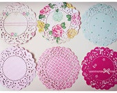 Parisian Lace Doily Little Bo Beep for Scrap booking or card making / pack