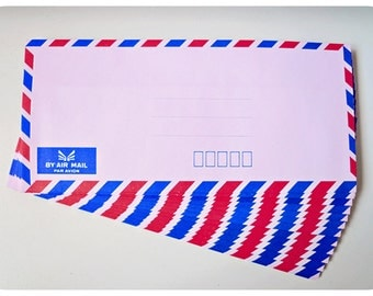 10 Pink Air mail envelopes