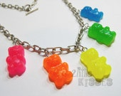 Stitch markers neon gummy bears for Samantha