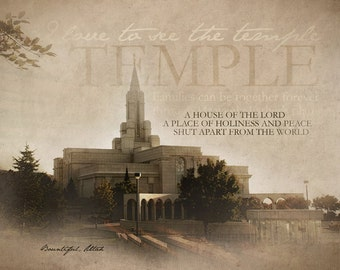Bountiful LDS Temple Print 16x20