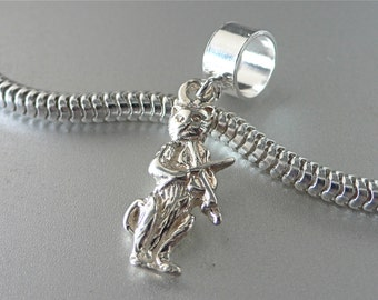 The CAT and The FIDDLE Sterling Silver Nursery Rhyme Charm Fits All Slide On Bracelets