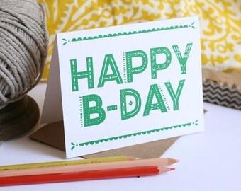 Fiesta Happy Birthday / Letterpress Printed Card