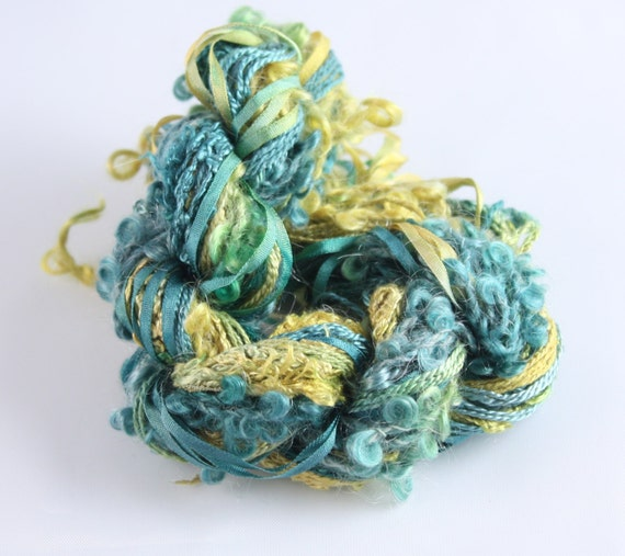 Silk Embroidery Thread Silk Ribbon Canary Teal By