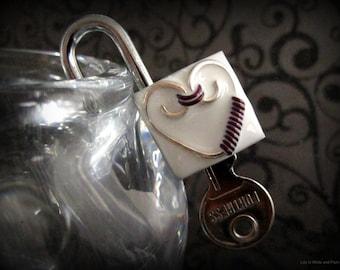 Submissive Collar Lock,, Swirls/ heart, Bondage Lock