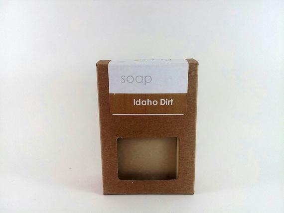 Earthy Handmade Soap Bar - Idaho Dirt - Dirt Scented, Outdoorsman,  VEGAN castile soap,  Hunter's Soap