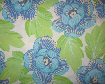 Amy Butler Charm Zest floral on white fabric 1/2 yard