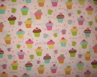 Joanns A cupcake a day  Cupcakes on light pink 1 yard