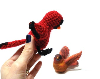 Pattern, Amigurumi Cardinal Bird Pattern, Crochet Bird, Amigurumi Crochet Bird Pattern, Cardinal Bird Tutorial