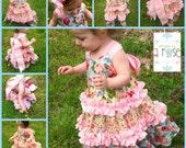 Blue Rose girl's ruffle dress - 18m, 24m, 2t, 3t, 4t, 5t, 6