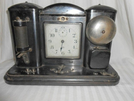 RESERVED RYAN Darche electrical shock treatment clock bedside medical clock 1909 Darche clock Darche electrical shock treatment
