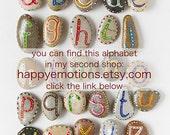 Alphabet Beach Stones for Kids, Sea Pebbles Gift Ideas, Educational Toys, Rocks