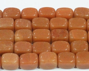 "Aventurine Beads 13x18mm Tumble Genuine Red Bead Semiprecious Gemstone 15""L Bead Jewelry Making 15""L 6261"