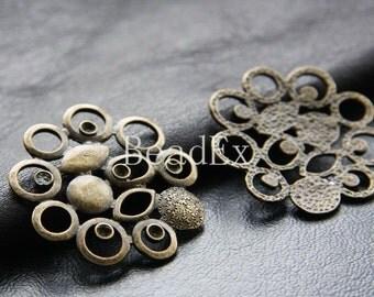 6pcs / Link / Antique Brass / Base Metal / Charm / 36mm (ZB10671//J222)