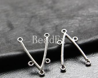 20pcs / Earring Findings / Chandelier / Oxidized Silver / Base Metal / 26x18mm (YA5390//B221)