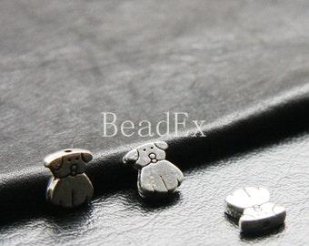 20pcs / Spacer / Dog / Oxidized Silver / Base Metal / 10x9mm (Y8865//C74)