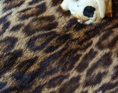 Real wild cat Spotted fur scrap from Vintage fur coat