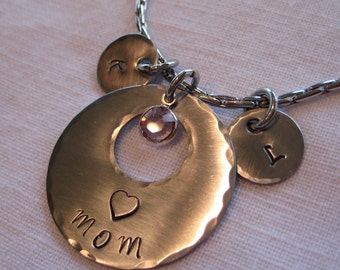 Hand stamped Jewelry-  Mothers necklace