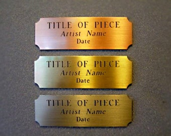 "4""x 1""  Personalized Brass Custom Engraved Metal Plate ...Quick Turn Around."