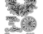 Cling Mounted Rubber Stamps from Graphic 45 - Secret Garden 2