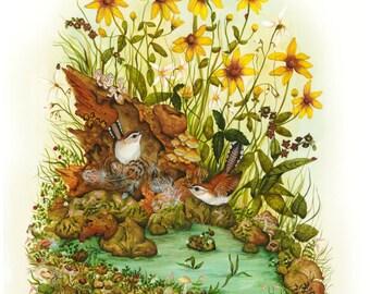 Watercolor Painting Print - Bird Art - Bird Print