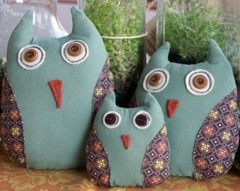 Stuffed Plush Owl Family