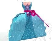 Royal Princess Favor Box, Princess Birthday Party, Blue princess, Candy Box, Gift, Favor Box, Princess Party, sweets 16 -INSTANT DOWNLOAD