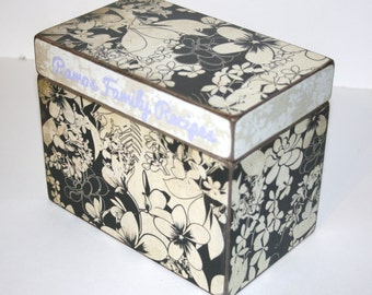Recipe Box, 4x6 Recipe Box, 4 x 6 Custom Box, You Design It, Handmade Personalized Recipe Box, Wood Box, Address File Wedding Guest Book Box