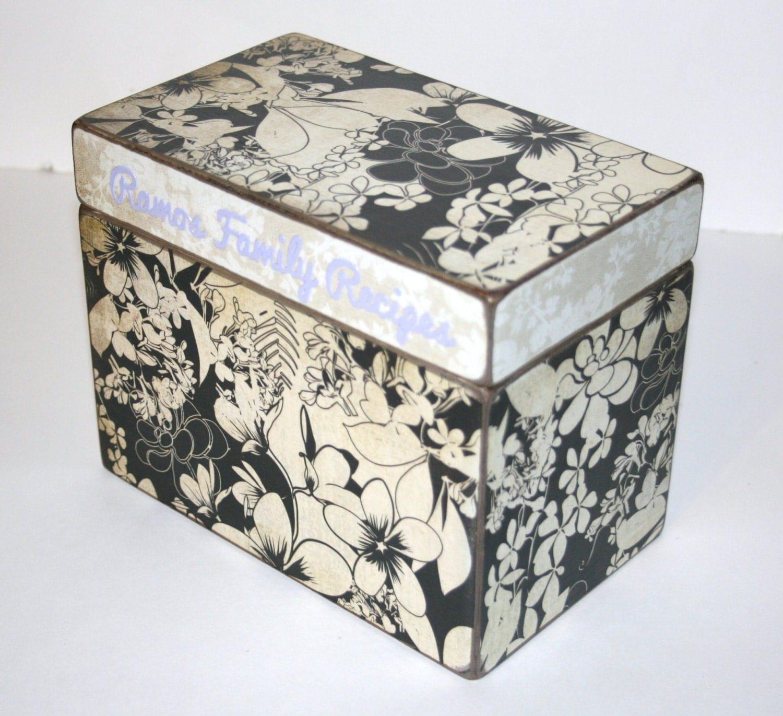 Recipe Cards And Box Recipe Box 4x6 4 x 6 Custom