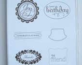 Stampin' Up Perfect Punches Rubber Stamp Set