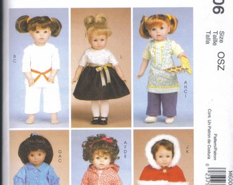 "18""doll colthes outfits American Girl and similar Pattern McCall's 6006  doll clothes and hats"