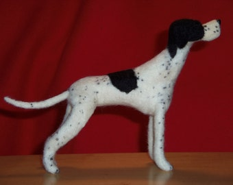 Pointer needle felted dog example custom made to order