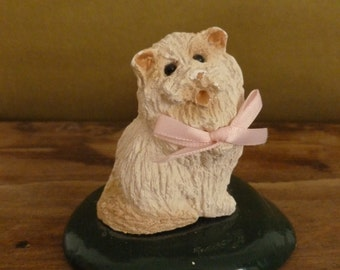 Vintage Kitty Cat Figurine 1988 Byers Collection The Carolers