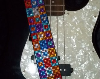 Square in a Square guitar strap