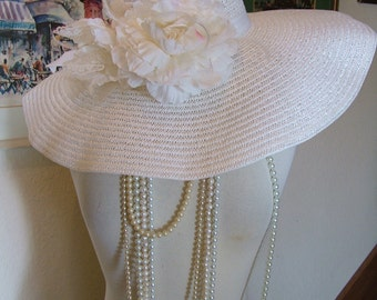 Wedding hat Great Gadsby 1920s hat Kentucky derby hat