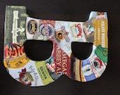 Beer Neck Label Wrapped Letter