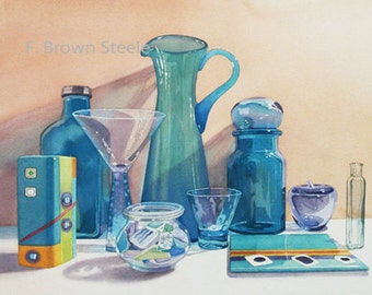 TURQUOISE - watercolor reproduction