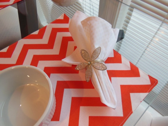 White Cloth Napkins - Circles and Dots Design Napkins by Pillowscape Designs - White and Ivory Napkins